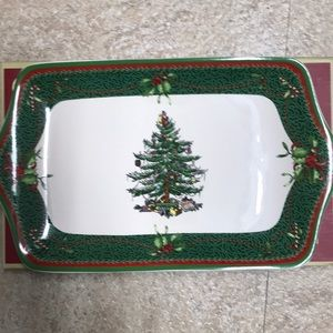 Holiday serving plate